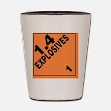 ADR Sticker - 1.4 Explosives Shot Glass