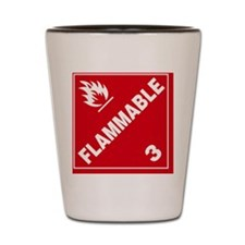 ADR Sticker - 3 Flammable Shot Glass