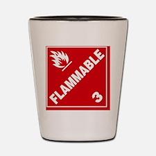 ADR Sticker - 3 Flammable Shot Glass