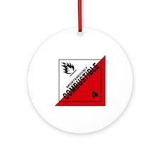 ADR Sticker - 4 Spontaneously Combu Round Ornament