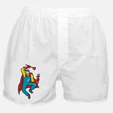 Super Plumber Plunger Wrench Cartoon Boxer Shorts
