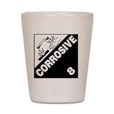 ADR Sticker - 8 Corrosive Shot Glass