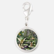 Fairy Tales Silver Round Charm