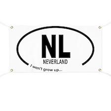 Car Oval Neverland Banner