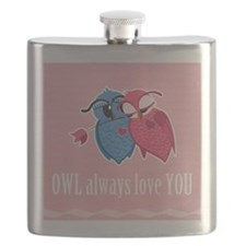 Romantic Owls Flask