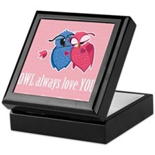 Romantic Owls Keepsake Box