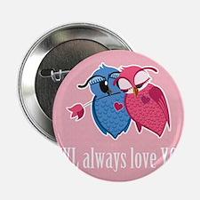 """Romantic Owls 2.25"""" Button"""