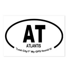 Car Oval Atlantis Postcards (Package of 8)