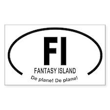 Car Oval Fantasy Island Decal