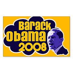 Groovy Obama 2008 Rectangle Sticker
