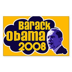 Groovy Obama 2008 Rectangle Decal