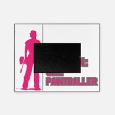 Caution: Girl Paintballer - PINK Picture Frame
