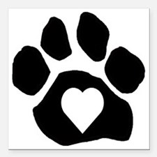 """iheart Square Car Magnet 3"""" x 3"""""""