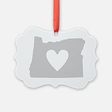 Heart Oregon state silhouette Ornament