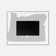 Heart Oregon state silhouette Picture Frame