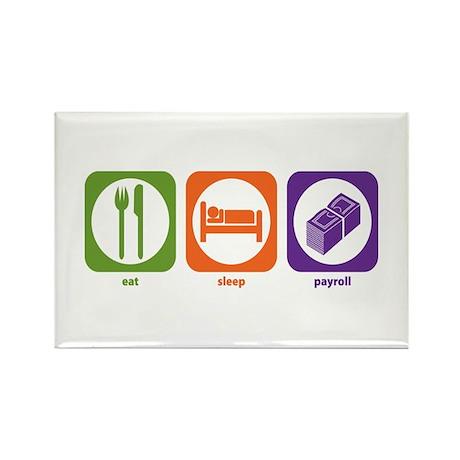 Eat Sleep Payroll Rectangle Magnet