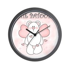 Cutie Patooey Bear Wall Clock