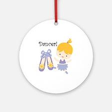 Blond Girl Dancer Round Ornament