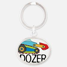 Dozer Oval Keychain