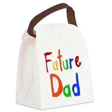 Primary Colors Future Dad Canvas Lunch Bag