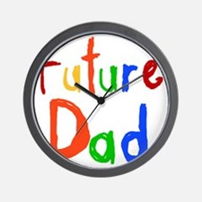 Primary Colors Future Dad Wall Clock