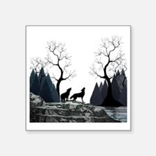 """Howling Wolves Square Sticker 3"""" x 3"""""""