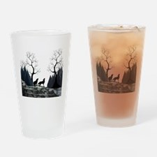 Howling Wolves Drinking Glass