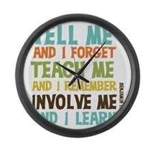 Involve Me Large Wall Clock