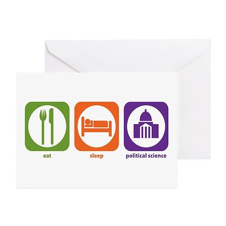 Eat Sleep Political Science Greeting Cards (Packag