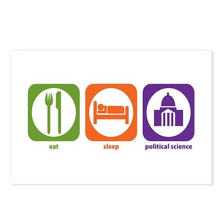 Eat Sleep Political Science Postcards (Package of