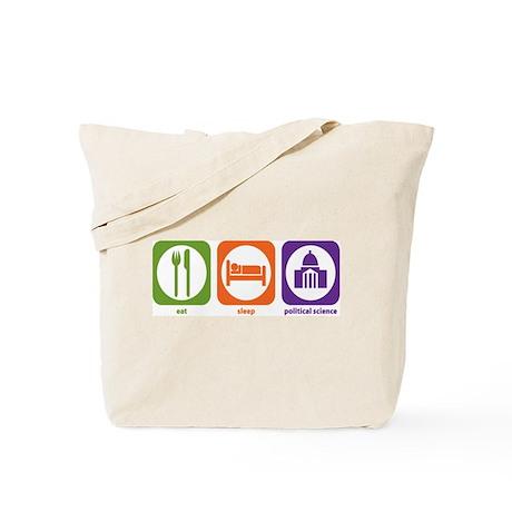 Eat Sleep Political Science Tote Bag