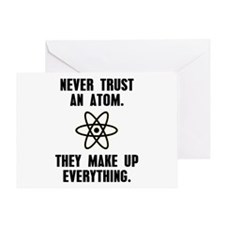 Never Trust an Atom Greeting Card