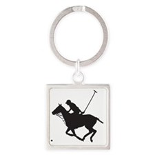 Polo Pony Silhouette Square Keychain