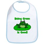 Being Green Frog Bib
