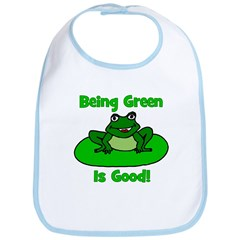 Being Green Frog Bib