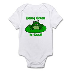 Being Green Frog Infant Bodysuit