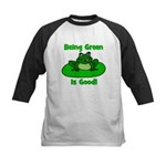 Being Green Frog Kids Baseball Jersey