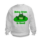 Being Green Frog Kids Sweatshirt