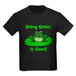 Being Green Frog Kids Dark T-Shirt