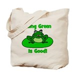 Being Green Frog Tote Bag