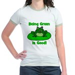 Being Green Frog Jr. Ringer T-Shirt