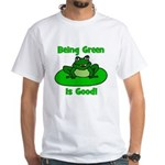 Being Green Frog White T-Shirt