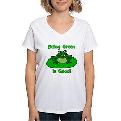 Being Green Frog Shirt