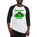 Being Green Frog Baseball Jersey