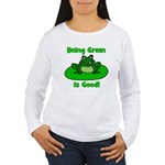 Being Green Frog Women's Long Sleeve T-Shirt