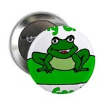Being Green Frog Button