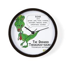 The Dreaded Thesaurus-saurus Wall Clock