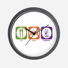 Eat Sleep Obstetrics Wall Clock