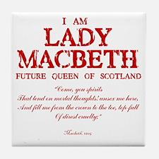 Lady Macbeth (red) Tile Coaster