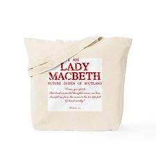 Lady Macbeth (red) Tote Bag